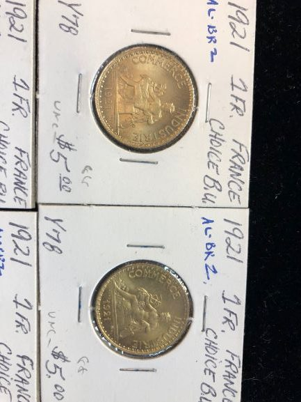 1921 French Francs in Unc!