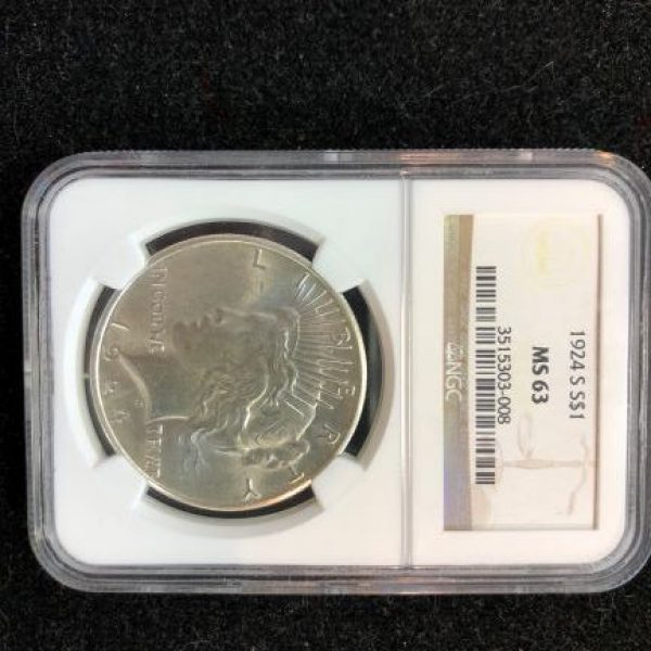1924-S NGC MS63 Peace Dollar