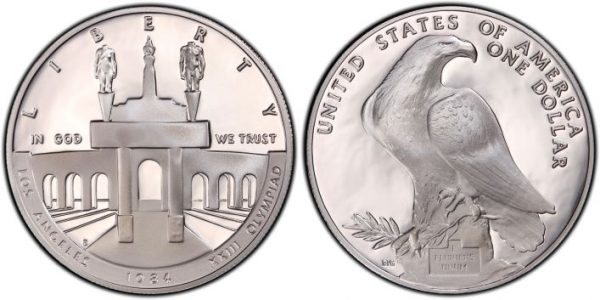 1984-S Olympic Proof Commemorative Silver Dollar