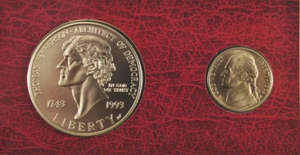 1993 Jefferson Uncirculated Coin and Currency Set