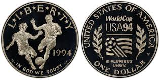 1994 World Cup Proof Commemorative Silver Dollar