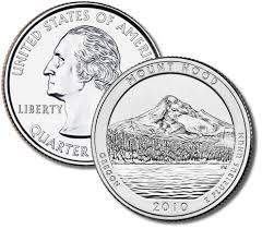 2010 Mount Hood National Park Quarter Roll - Denver