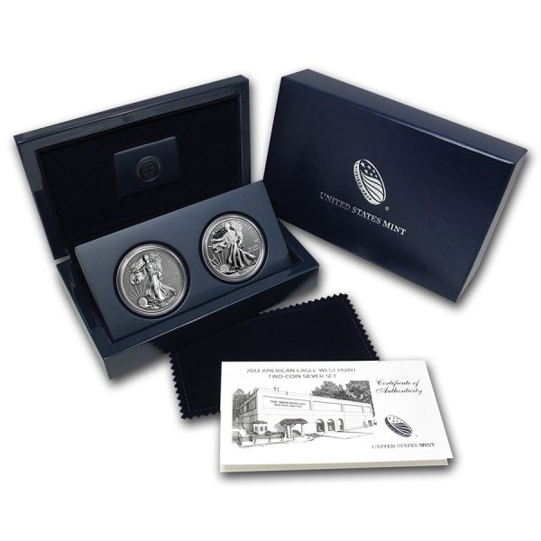 2013 American Eagle West Point Two-Coin Silver Proof Set