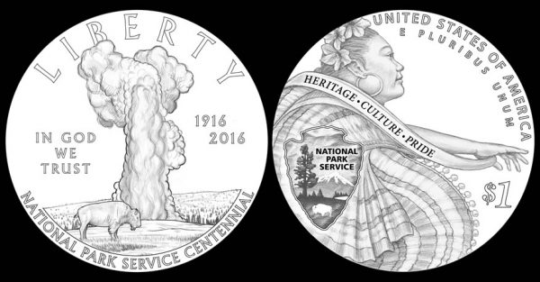 2016 National Park 100th  Uncirculated Dollar