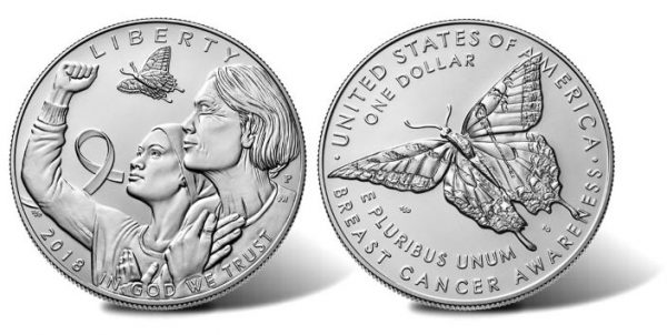 2018 Breast Cancer Uncirculated Commemorative Silver Dollar