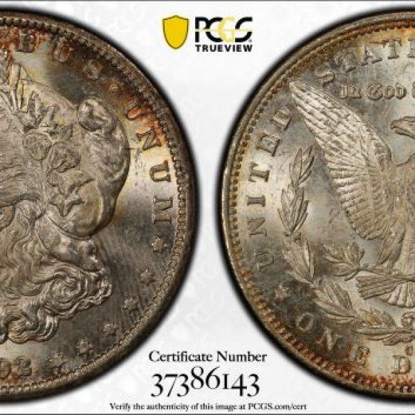 1892-CC Morgan Dollar in PCGS MS62