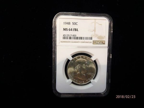 1948 Franklin Half Dollar MS64 FBL NGC