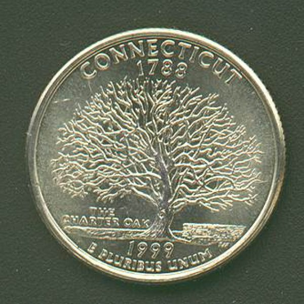 1999 Connecticut State Quarter Roll Philadelphia mint