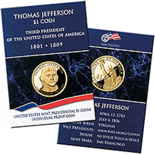 2007 Proof Thomas Jefferson Dollar