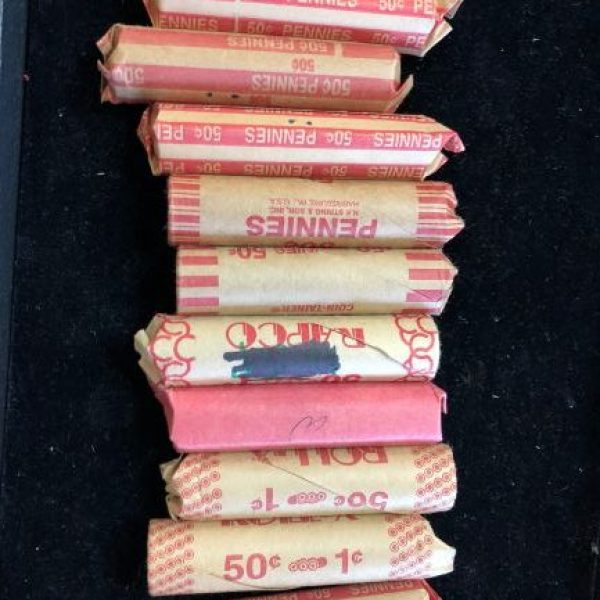 Full roll of UNSORTED wheat cents